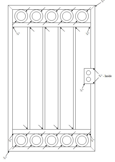 gate holes for galvanizing